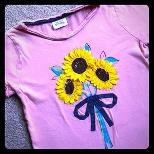 Mini Boden Sunflower Top GUC 7-8